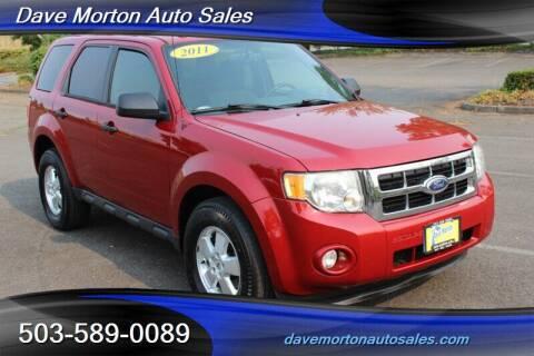 2011 Ford Escape for sale at Dave Morton Auto Sales in Salem OR
