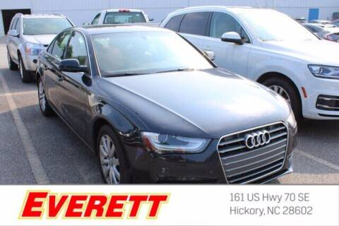 2013 Audi A4 for sale at Everett Chevrolet Buick GMC in Hickory NC