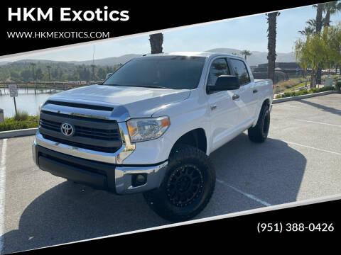 2015 Toyota Tundra for sale at HKM Exotics in Corona CA