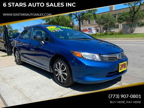2012 Honda Civic for sale at 6 STARS AUTO SALES INC in Chicago IL