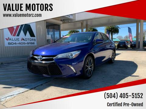2015 Toyota Camry for sale at VALUE MOTORS in Kenner LA