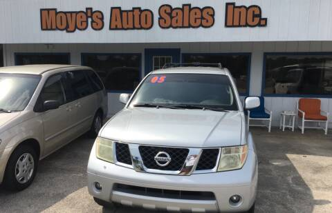2005 Nissan Pathfinder for sale at Moye's Auto Sales Inc. in Leesburg FL