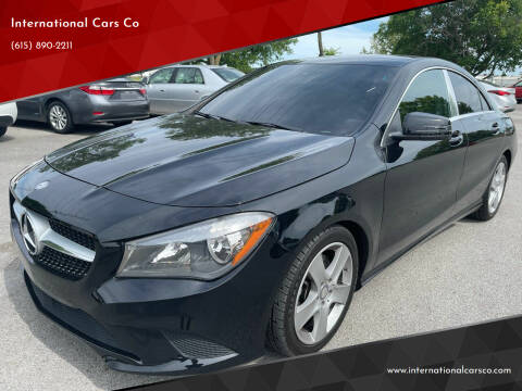 2016 Mercedes-Benz CLA for sale at International Cars Co in Murfreesboro TN
