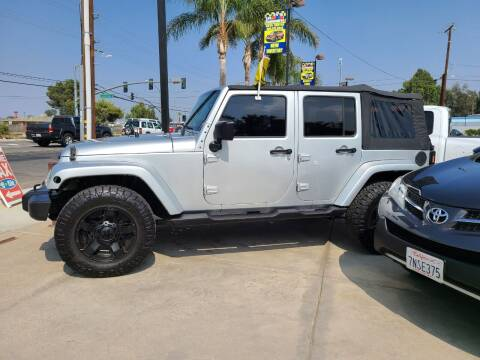 2007 Jeep Wrangler Unlimited for sale at E and M Auto Sales in Bloomington CA