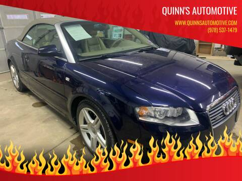 2007 Audi A4 for sale at QUINN'S AUTOMOTIVE in Leominster MA