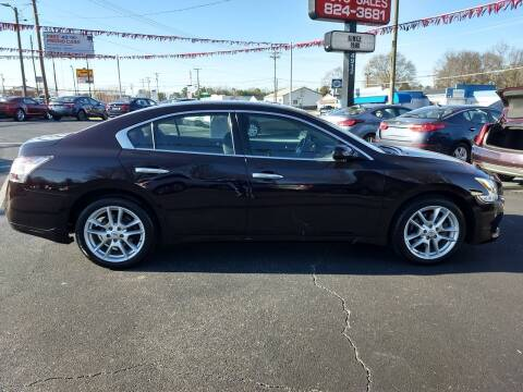 2012 Nissan Maxima for sale at Kenny's Auto Sales Inc. in Lowell NC