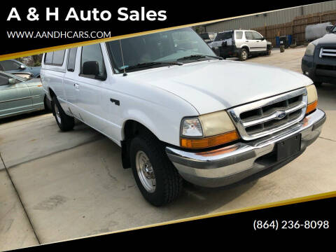 1998 Ford Ranger for sale at A & H Auto Sales in Greenville SC