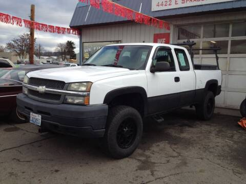 2003 Chevrolet Silverado 2500HD for sale at TTT Auto Sales in Spokane WA