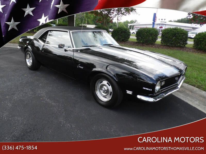 1968 Chevrolet Camaro for sale at CAROLINA MOTORS in Thomasville NC