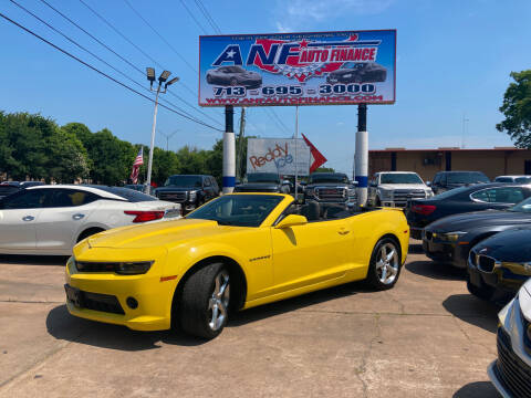 2015 Chevrolet Camaro for sale at ANF AUTO FINANCE in Houston TX