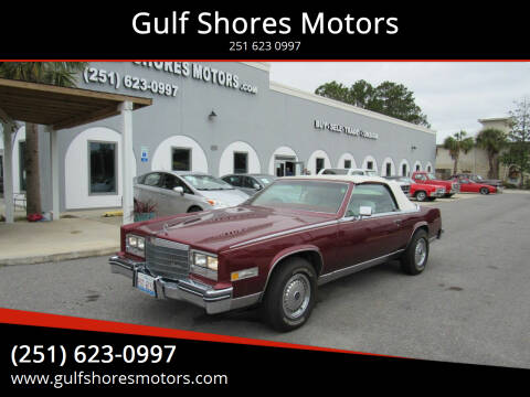 1984 Cadillac Eldorado for sale at Gulf Shores Motors in Gulf Shores AL
