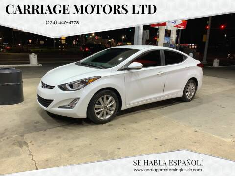 2015 Hyundai Elantra for sale at Carriage Motors LTD in Ingleside IL