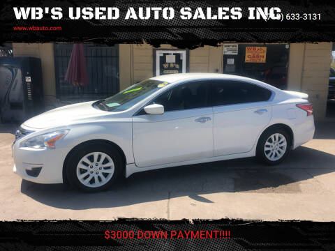 2015 Nissan Altima for sale at WB'S USED AUTO SALES INC in Houston TX