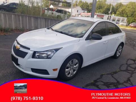 2013 Chevrolet Cruze for sale at Plymouthe Motors in Leominster MA