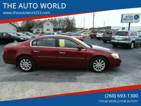 2010 Buick Lucerne for sale at THE AUTO WORLD in Churubusco IN