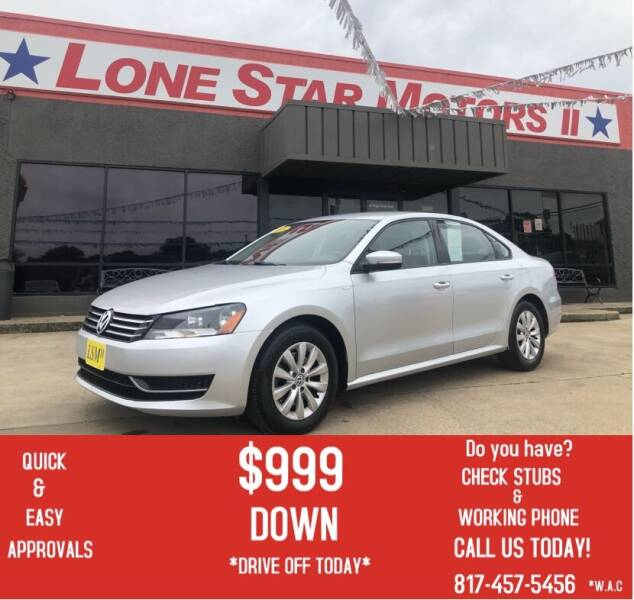 2015 Volkswagen Passat for sale at LONE STAR MOTORS II in Fort Worth TX