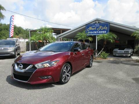 2016 Nissan Maxima for sale at NEXT RIDE AUTO SALES INC in Tampa FL
