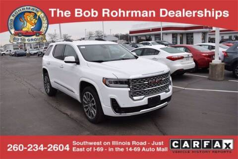 2020 GMC Acadia for sale at BOB ROHRMAN FORT WAYNE TOYOTA in Fort Wayne IN