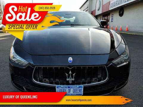 2014 Maserati Ghibli for sale at LUXURY OF QUEENS,INC in Long Island City NY