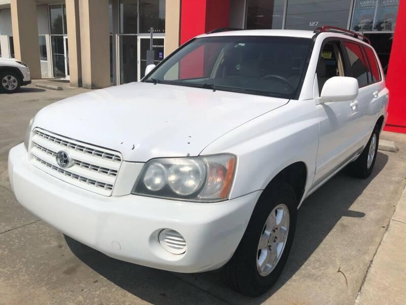 2001 Toyota Highlander for sale at Thumbs Up Motors in Warner Robins GA