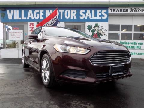 2013 Ford Fusion for sale at Village Motor Sales in Buffalo NY