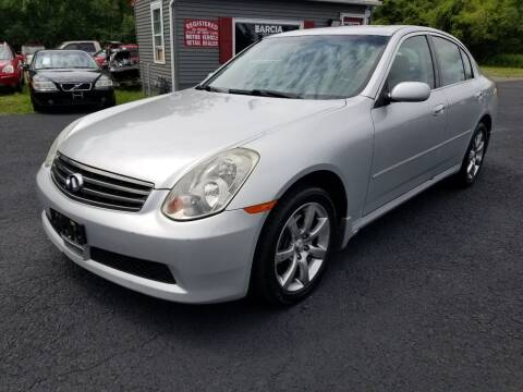 2006 Infiniti G35 for sale at Arcia Services LLC in Chittenango NY