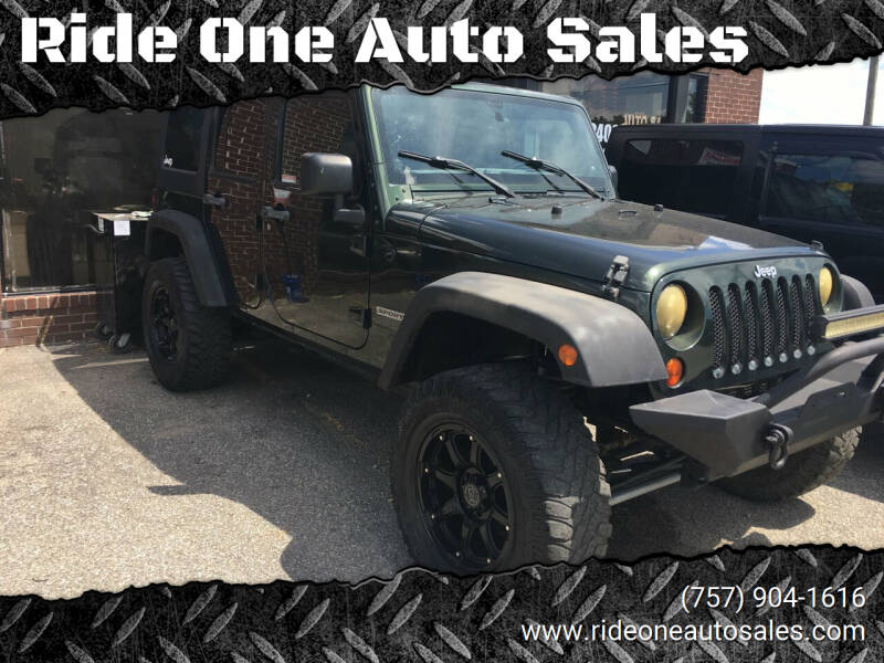2011 Jeep Wrangler Unlimited for sale at Ride One Auto Sales in Norfolk VA