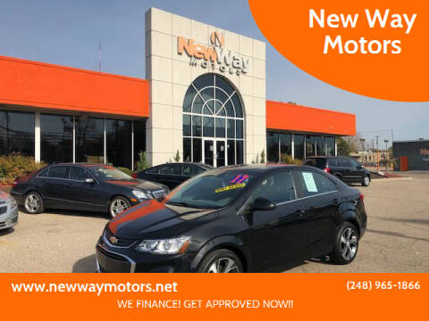 2017 Chevrolet Sonic for sale at New Way Motors in Ferndale MI