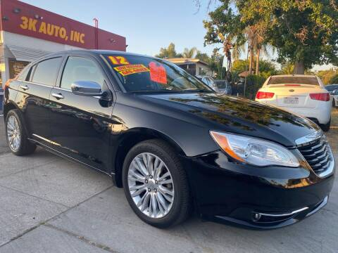 2012 Chrysler 200 for sale at 3K Auto in Escondido CA