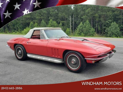 1965 Chevrolet Corvette for sale at Windham Motors in Florence SC