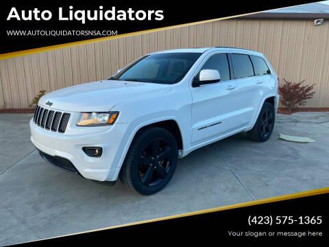 2015 Jeep Grand Cherokee for sale at Auto Liquidators in Bluff City TN