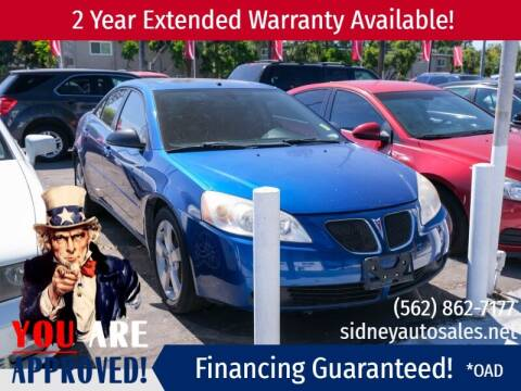 2007 Pontiac G6 for sale at Sidney Auto Sales in Downey CA
