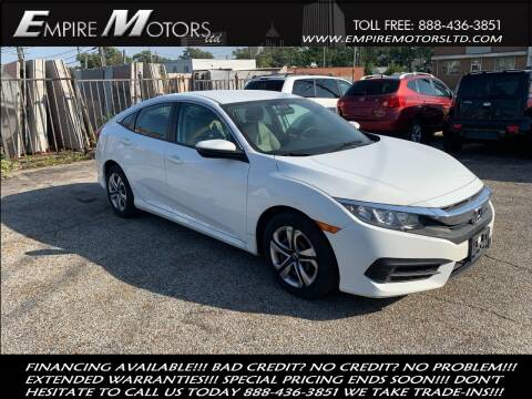 2016 Honda Civic for sale at Empire Motors LTD in Cleveland OH