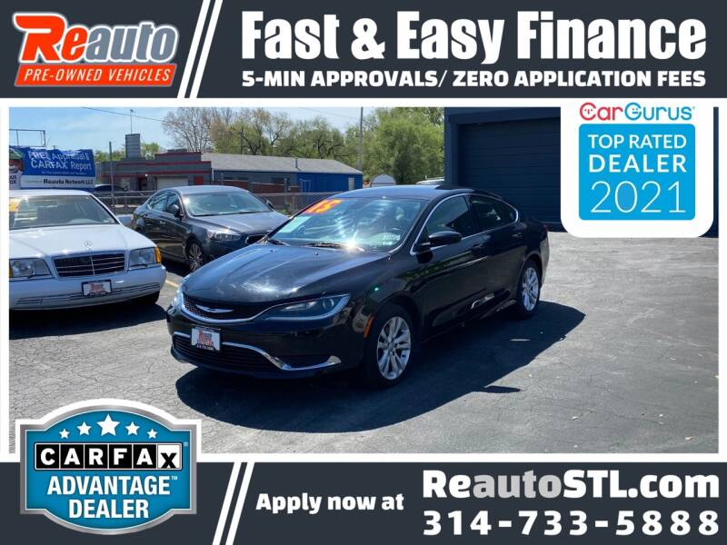 2015 Chrysler 200 for sale at Reauto in Saint Louis MO