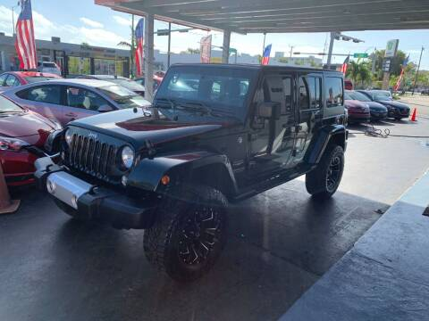 2014 Jeep Wrangler Unlimited for sale at American Auto Sales in Hialeah FL