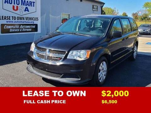 2016 Dodge Grand Caravan for sale at Auto Mart USA -Lease To Own in Kansas City MO