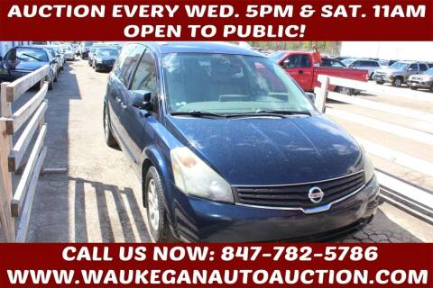 2008 Nissan Quest for sale at Waukegan Auto Auction in Waukegan IL