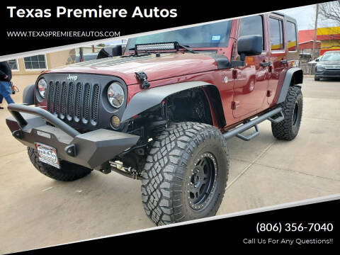 2010 Jeep Wrangler Unlimited for sale at Texas Premiere Autos in Amarillo TX