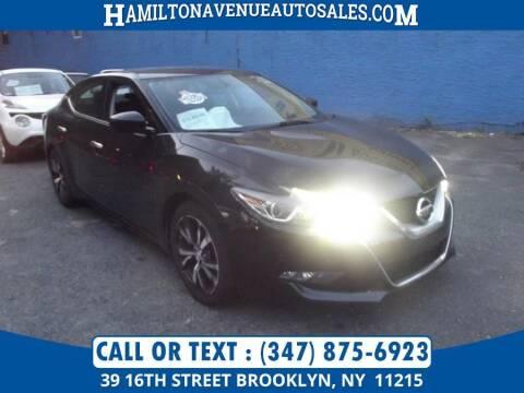 2016 Nissan Maxima for sale at Hamilton Avenue Auto Sales in Brooklyn NY