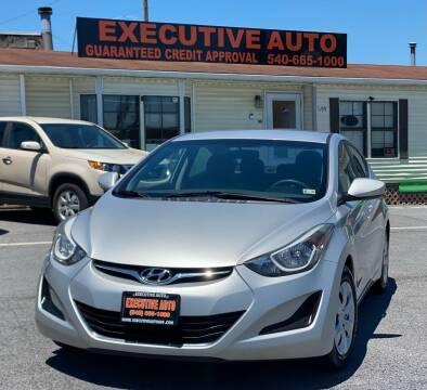 2016 Hyundai Elantra for sale at Executive Auto in Winchester VA