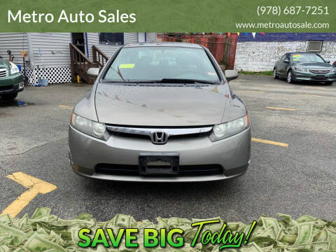 2006 Honda Civic for sale at Metro Auto Sales in Lawrence MA