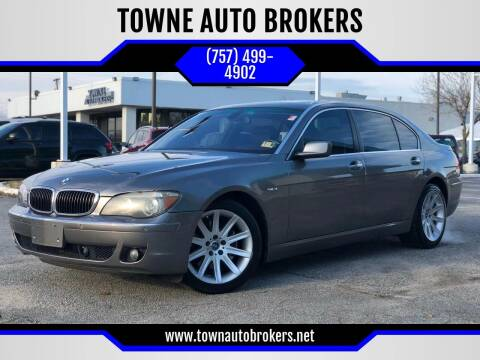 2006 BMW 7 Series for sale at TOWNE AUTO BROKERS in Virginia Beach VA