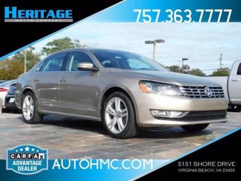 2015 Volkswagen Passat for sale at Heritage Motor Company in Virginia Beach VA