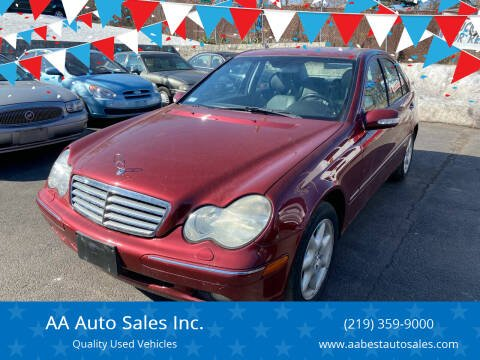 2002 Mercedes-Benz C-Class for sale at AA Auto Sales Inc. in Gary IN