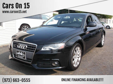 2009 Audi A4 for sale at Cars On 15 in Lake Hopatcong NJ