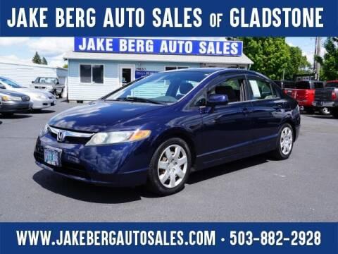 2006 Honda Civic for sale at Jake Berg Auto Sales in Gladstone OR