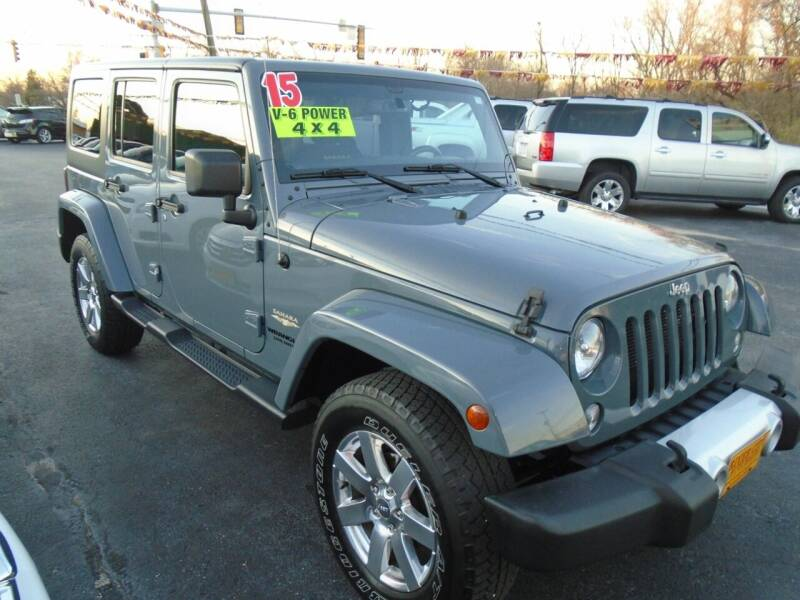 2015 Jeep Wrangler Unlimited for sale at River City Auto Sales in Cottage Hills IL