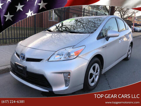 2012 Toyota Prius for sale at Top Gear Cars LLC in Lynn MA