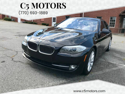 2013 BMW 5 Series for sale at C5 Motors in Marietta GA