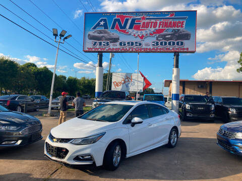 2018 Chevrolet Cruze for sale at ANF AUTO FINANCE in Houston TX